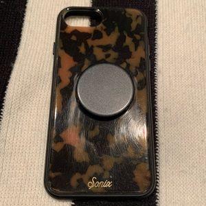 Tortoise iPhone 6/7/8 Case w/ Aluminum PopSocket